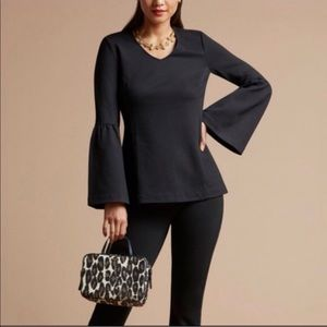 Cabi | Style 3500 Black Bell Sleeve Blouse
